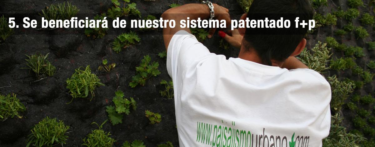 sistema patentado Paisajismo Urbano