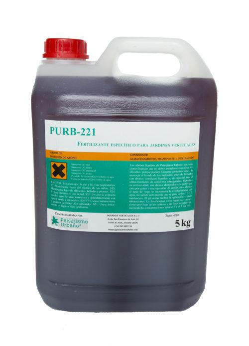 El fertilizante PURB-221 es un compuesto específico para el correcto desarrollo de los jardines verticales y muros verdes.