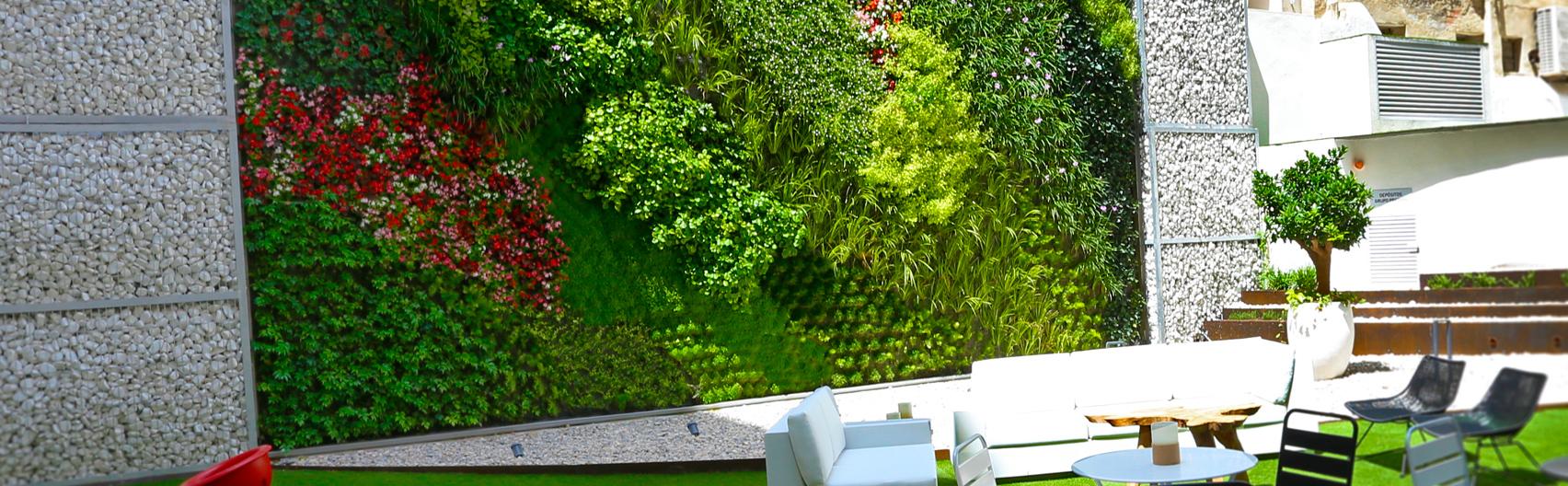 Proyecto Jardín vertical residencia privada – Alicante. Paisajismo Urbano, 2019